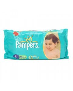 Pampers Disposable Diapers Large (9-14 kgs) 5pcs Pouch