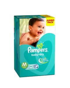 Pampers Disposable Diapers Medium (6-11 kg) 66pcs