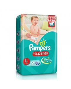 Pampers Dry Pants Large 8pcs Pouch