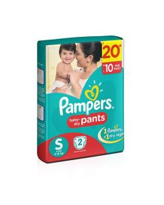 Pampers Dry Pants Small 2pcs Pouch