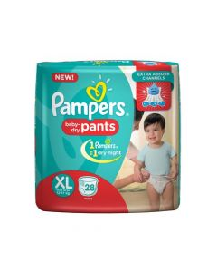 Pampers Pants - Diapers Xtra Large Size 28pcs Pouch