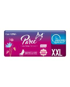 Paree Ultra Thinz 30 XL Soft Feel Sanitary Pads with Frangrance (Tri-Fold)