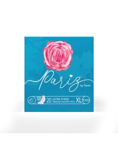 Paree Ultra Thinz 30 XXL Soft Feel Sanitary Pads with Frangrance (Tri-Fold)