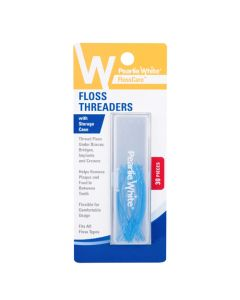 Pearlie White Floss Threaders With Storage Case