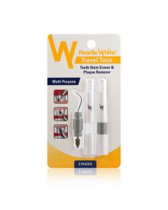 Pearlie White Travel Twin Tooth Stain Eraser and  Plaque Remover