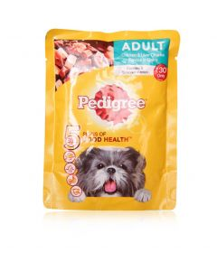 Pedigree Daily Food for Adult Dogs Chicken & Liver Chunks 80gm