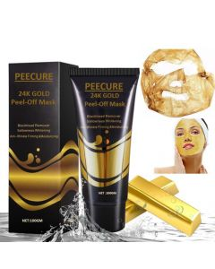 PEECURE 24K Gold Peel-Off Face Mask For Men & Women 100 gm