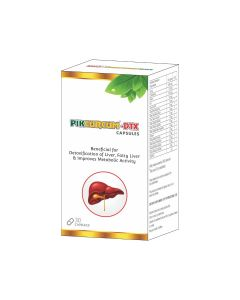Pikcurcum DTX Beneficial for (Detoxification of Liver, Fatty Liver & Improves Metabolic activity) - 30 Caps