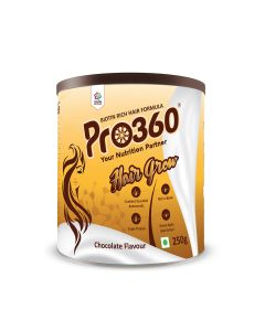Pro360 Hair Grow Nutritional Beverage Mix - Chocolate Flavour 250gm
