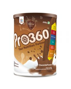 Pro360 Nutritional Beverage Mix (Regular) - Chocolate Flavour 200gm