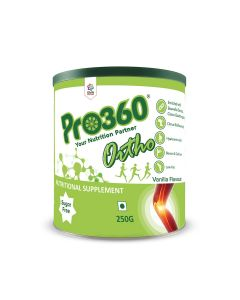 Pro360 Ortho (Veg) Nutritional Beverage Mix - Vanilla Flavour 250gm