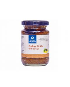 Future Organics Pudina with Olive oil Pickle - 160 gm