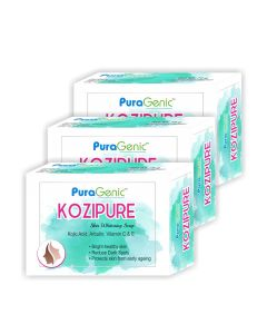 PuraGenic Kozipure Skin Whitening Soap - 75gm (Pack of 3)