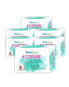 PuraGenic Kozipure Skin Whitening Soap - 75gm (Pack of 6)