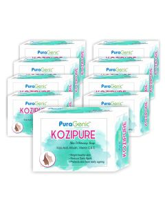 PuraGenic Kozipure Skin Whitening Soap - 75gm (Pack of 9)