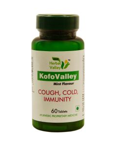 Indian Herbal Valley Pure and Natural KofoValley 60 Tea Tablets (880 mg) - Herbal Cough and Cold Relief Formula