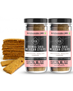 Nutrisnacksbox Quinoa Chia Mexican Strips (Pack of 2)