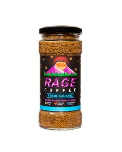 Rage Coffee Creme Caramel Flavour - Premium Arabica Instant Coffee - 100 Gms