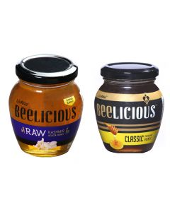Beelicious RAW Kashmir Acacia Honey - 250 gms & Classic Premium Honey - 250 gms