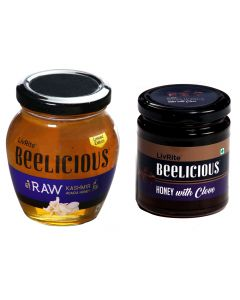 Beelicious RAW Kashmir Acacia Honey - 250 gms & Honey with Clove - 250 gms