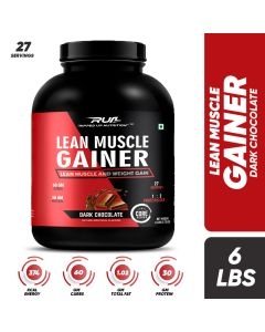 Ripped Up Nutrition Lean Muscle Gainer Dark Chocolate 6lbs(2.72kg)
