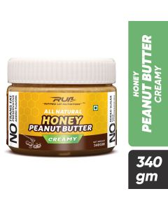 Ripped Up Nutrition Natural Honey Peanut Butter Creamy 340g