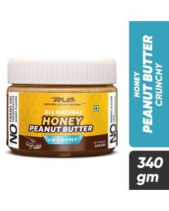 Ripped Up Nutrition Natural Honey Peanut Butter Crunchy 340g