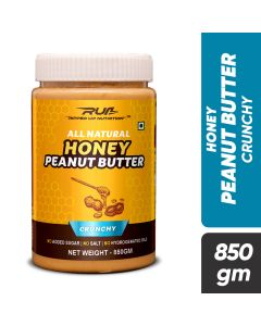 Ripped Up Nutrition Natural Honey Peanut Butter Crunchy 850g