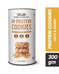 Ripped Up Nutrition Protein Cookies Oats and Raisin (Pack of 10)