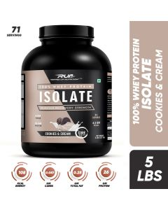 Ripped Up Nutrition Whey Protein Isolate Cookies & Cream 5lbs (2.27kg)