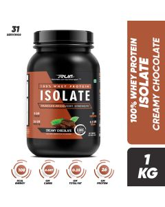 Ripped Up Nutrition Whey Protein Isolate Creamy Chocolate 2.2lbs (1kg)