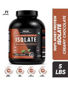 Ripped Up Nutrition Whey Protein Isolate Creamy Chocolate 5lbs (2.27kg)