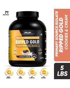 Ripped Up Nutrition Whey Ripped Gold Cookies & Cream 5lbs (2.27kg)