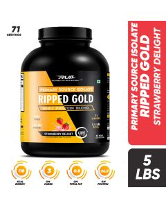 Ripped Up Nutrition Whey Ripped Gold Strawberry Delight 5lbs (2.27kg)