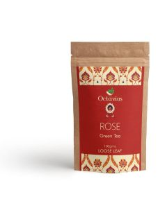 Rose Loose Leaf Green Tea Pouch Pack