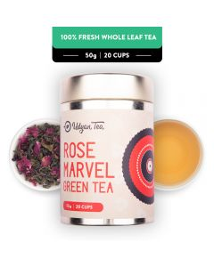 Udyan Tea Rose Marvel Green Tea Tin 50 g