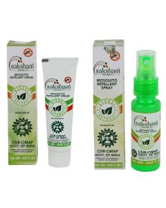 Saksham Herbals Combo of Mospray (Mosquito Repellent Spray, 30 ml) and Mosaway (Cream, 10 gm)