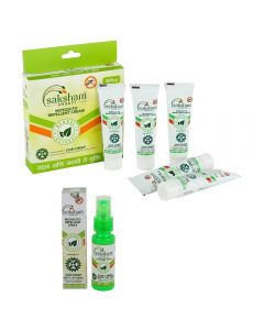 Saksham Herbals Mosaway(Mosquito Repellent Cream, Pack of 5, 50 gm) and Mospray (Pack of 1, 30ml) Combo, Super Saver Pack