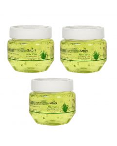 Saloni Herbal Aloe Vera Soothing Gel, Pure Natural Gel - Ideal for Skin, Face, Acne Scars, Hair Care, Moisturizer & Dark, Pack of 3 (100gms each)