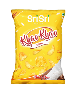 Sri Sri Tattva Khao Khao Salted Potato Chips - 13gm