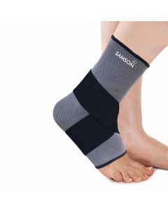 Samson Ankle Support With Binder (L) Black With Grey