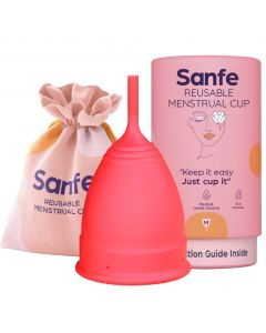 Sanfe Reusable Menstrual Cup with No Rashes - Leakage Or Odor Premium Design for Women Small (Pack of 3)