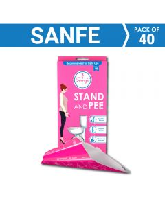 Sanfe Stand and Pee For Women (2 x 10 units) Disposable Female Urination Device (Pink - Pack of 20)