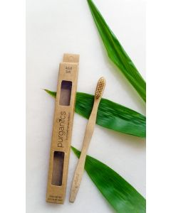 Purganics Bamboo Toothbrush Adult - Natural