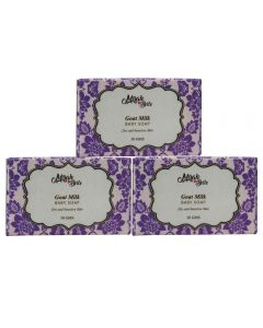 Mirah Belle Naturals Goat Milk, Baby Soap - Pack of 3 90gm