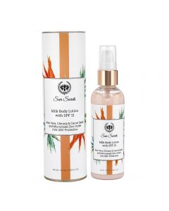 Seer Secrets Aloe Vera, Chironji & Carrot Seed SPF 21 Milk Lotion 100 Ml