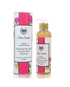 Seer Secrets Smoky Rose Geranium Hydrating Soy Milk Enzyme Body Cleanser 200 ml