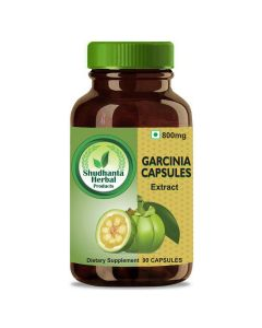 Shudhanta Herbal 100% Garcinia Capsules 800mg for Weight Loss and Reduced Joint Pain - 90 Herbal Vegetarian Capsules