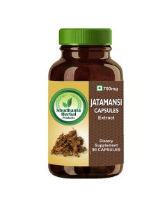 Shudhanta Herbal 100% Jatamansi Capsules 700mg for Hair Growth - 90 Herbal Vegetarian Capsules