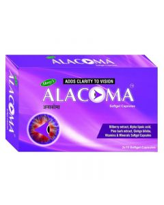 Shrey's Alacoma for Diabetic Retinopathy & Glaucoma (Pine Bark Extract) 30 Caps